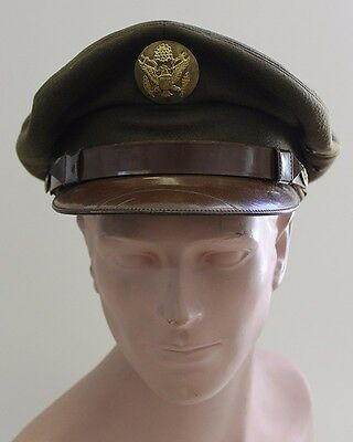"""Scarce WWII US Army Air Forces Private Purchase Enlisted Man """"Crusher"""" Visor Hat"""