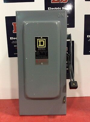 Square D Safety Switch HU-362 60 Amp 600 Volt 3 Pole Non Fusible Type 1