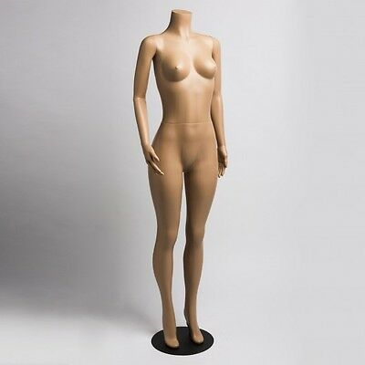 Female Brazilian Mannequins Full Body Headless Mannequin With Metal Base  J-LO3