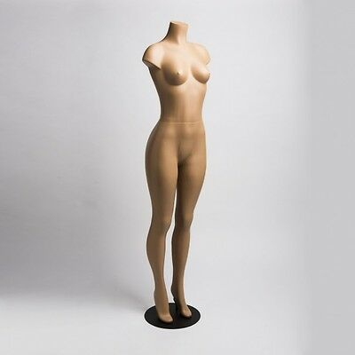 Brazilian Hip Style Armless Headless Female Plastic Mannequin Metal Base J-LO1