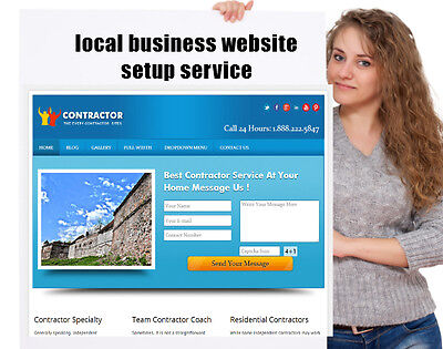 Local Business Website with lead capture Setup Service+ Commercial Video Service