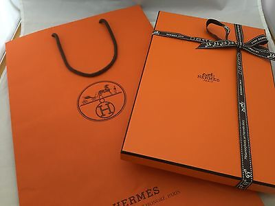 "Authentic Empty 11"" HERMES Empty box, Ribbon, Bag"