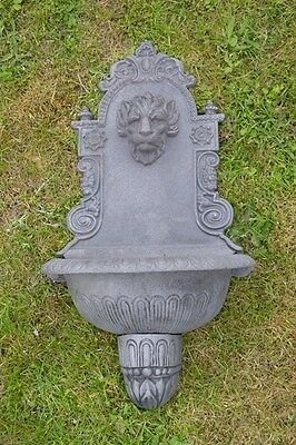 Large Cast Iron Wall Mounted Lion Water Feature Baroque Garden Fountain UM099