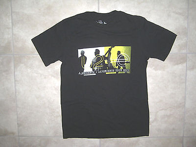 U2 Innocence + Experience Tour Concert Graphic Black T Shirt SMALL 2015 USED