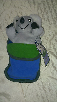 WITH TAG Koala bear and baby in sleping bag 23cm