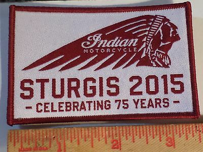 Sturgis 75th 2015 Indian patch motorcycle rally collectible biker souvenir