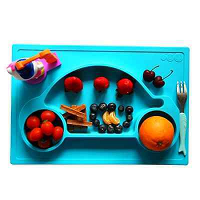 Galaxy 1 Piece Car Silicone Placemat & Tray, Blue Baby Infant Toddler