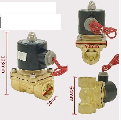 "1/2"" IN Electric Solenoid Valve DC 12V-Water-Air Gas,Air Suspension NC A132"