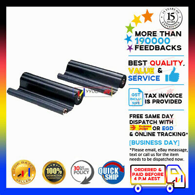 2 Rolls Film Ribbon PC-402RF for Brother for FAX PC402RF PC-402 817 827 837 645