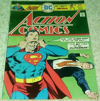 Action Comics 453, FN- (5.5) 1975 Superman 50% off Guide!