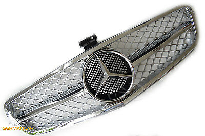 Grill Sport Kühlergrill für Mercedes W204 C204 Coupe Chrom C63 AMG OPTIK