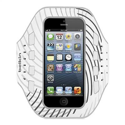 Belkin Pro-Fit Sports Gym Running Armband For iPhone 5/5S/SE - White/Black NEW