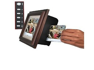 "8"" Smartparts 128MB 800x600 Digital Photo Frame w/Built-in Photo Printer (Wood)"
