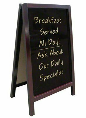 Write On Sidewalk A-Frame Sign, Dry Erase, 20 Inches Width by 34 Inches Height