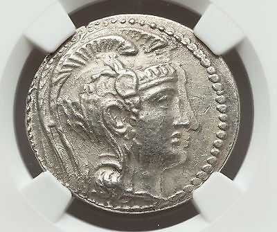 2nd-1st Century BC ATTICA ATHENS TETRADRACHM SILVER COIN NGC AU