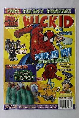 Fox Kids Wickid Magazine #21 2001 Children's Free Gift Spider-Man Digimon Panini