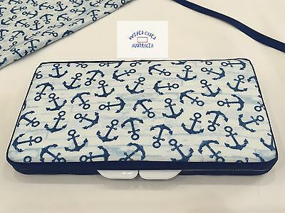 Blue Anchors Baby Wipes Case - Perfect Gift For Baby Shower