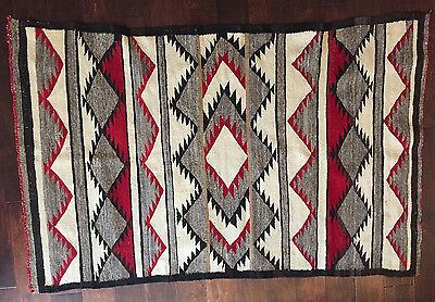Gorgeous Red Toned Antique Navajo Rug   not too large or small, vintage navaho