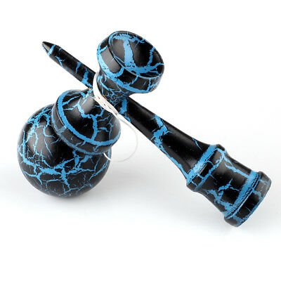 Kendama Kraze Wood Toy - Extra String- Tribute Samurai Blue & Black Pro Model