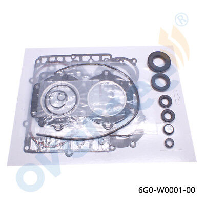 Aftermarket 6G0-W0001-00 Gasket Set for Yamaha outboard 20HP & 25HP 2 Stroke