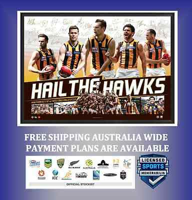 Hawthorn Hawks 2015 AFL Premiers Deluxe Sports Lithograph - UNFRAMED