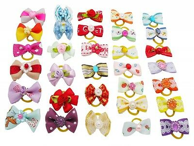 Wholesale Assorted Ribbon Pet Hair Bows Dog Cat Puppy Grooming Hair Accessories