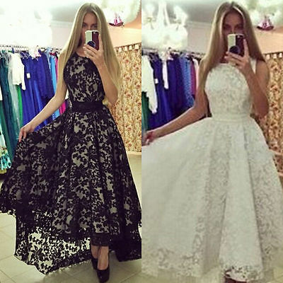 Women's Lace Evening Formal Party Cocktail Bridesmaid Prom Gown Long Maxi Dress