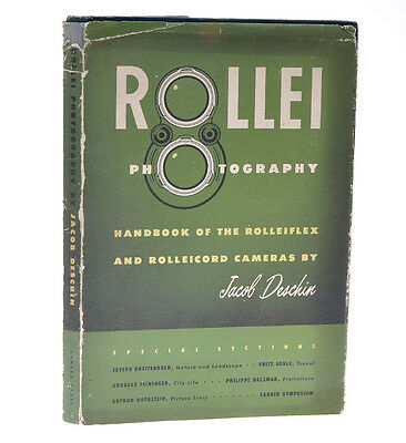 """Jacob Deschin libro """"Rollei Photography"""" in inglese First Edition 1952 D781"""