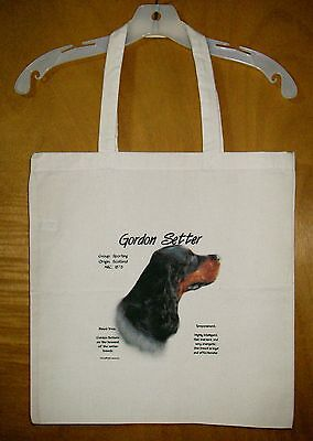 "GORDON SETTER  ""History of the Breed"" Cotton Tote Bag  / 15""x15"""