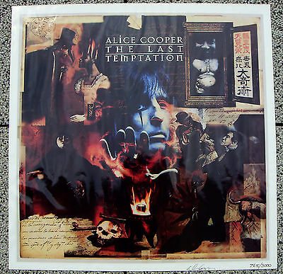 ALICE COOPER The Last Temptation promotional poster Autographed by Alice LIMITED