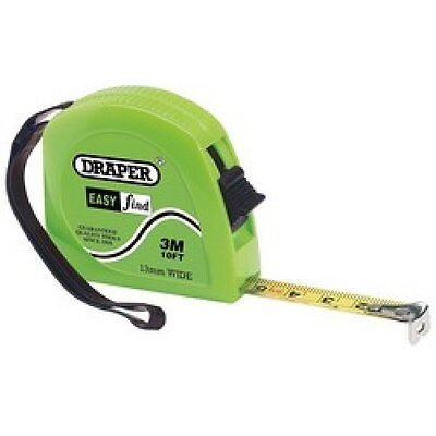 Draper 3M / 10Ft Easy Find Measuring Tape 13Mm Wide Clip For Belt Pocket  75883