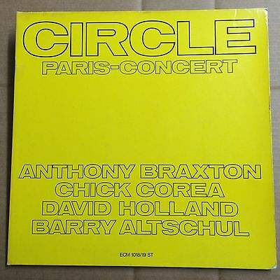Circle ‎–  Paris – Concert, ECM ‎1018/19 ST  Ger 1972  2LP Corea Braxton NM-/EX+
