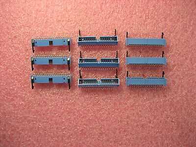 Lot of 9 IDC-36 Right Angle 36-Pin Header with Latches - 2-Row 2.5mm Pitch