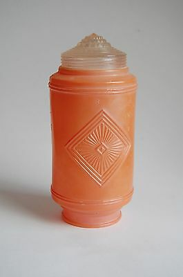 Art deco glass shade cylinder 1930's, orange peach color