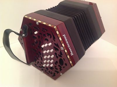 New Boorinwood 30 Key Anglo Wooden Concertina tuned C/G -Italian Reeds