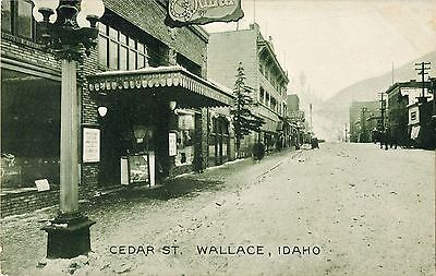 A View of the Movie Theatre, Cedar Street, Wallace ID