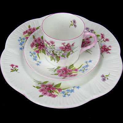 "Vintage Shelley Trio Demitasse  ""STOCKS"" #13428 English Bone China"