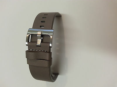 New Original Motorola Grey Genuine Leather Watch Band Replacement for Moto 360