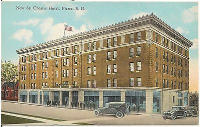 New St. Charles Hotel in Pierre SD Postcard
