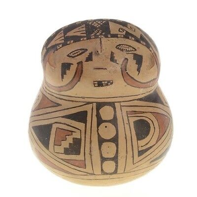 1100-1300 Ad Native American Wide-Bellied Pottery Vessel