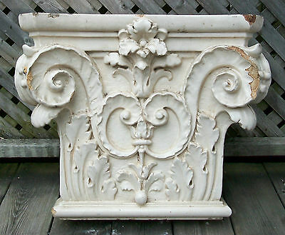 Antique Corinthian Capital - Glazed Ceramic - Canada/U.S. - Late 19th Century
