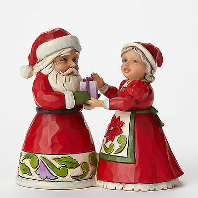 Jim Shore Heartwood Creek Mini Miniature Santa & Mrs. Claus Figurine 4047778 NEW