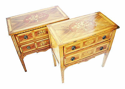 Pair of Louis XVI Style Marquetry Commodes - Continental - Early 20th Century