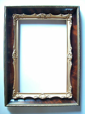 Antique Mahogany & Gilt Picture Frame in the Rococo Style - Early 20th Century