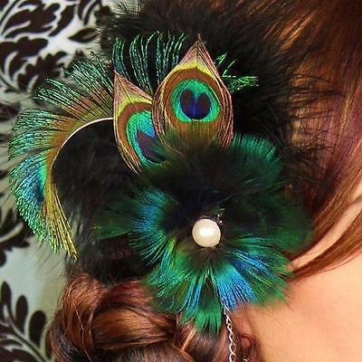 50PCS/Set Beautiful Natural Peacock Eye Tail Feathers For Home Decor Crafts W