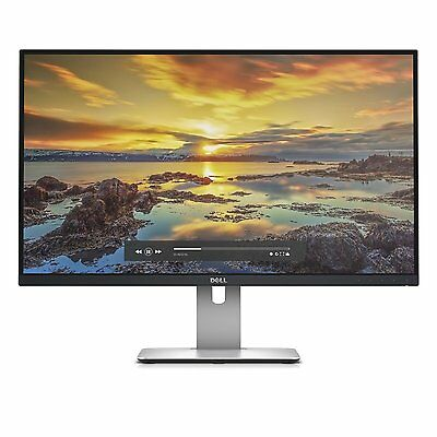 "Dell U2715H 27"" IPS LED LCD Computer Monitor 2K 8MS QHD 2560x1440 16:9 HDMI DP"