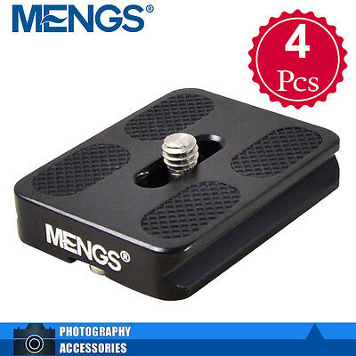 4X MENGS PU-50 Universal Quick Release Plate Aluminum Alloy For Arca-Swiss