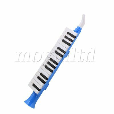 Blue Portable Plastic Mouth Organ 27-Key Note Wind Piano Melodica for Children