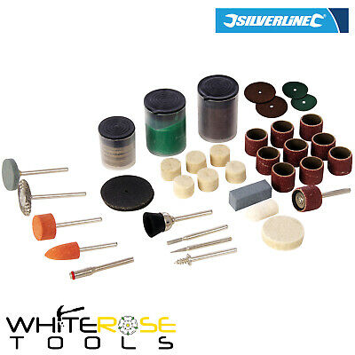 Silverline Rotary Tool Accessories Kit Hobby Cutting Sanding Grinding 105pc