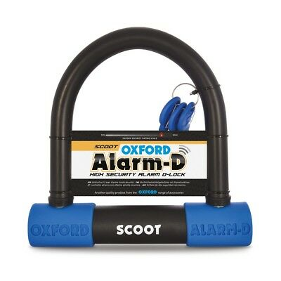 Oxford Alarm D Scoot 200mm x 196mm x 16mm Alarm Motorcycle U Lock Security LK358